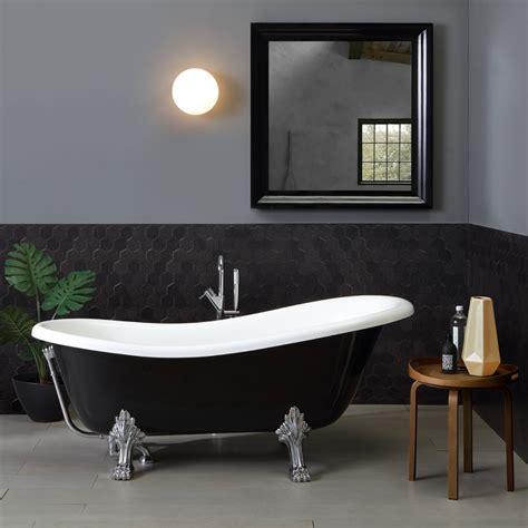 vasca da bagno classica vasca bagno stile classico bianco e nero con piedini kv