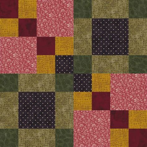 Square Patchwork Quilt Pattern - sew four square an easy patchwork quilt block four