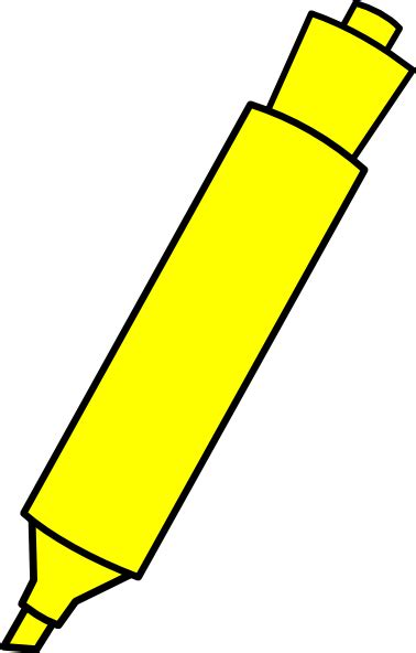 marker clipart yellow highlighter marker clip at clker vector