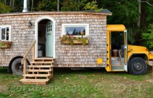 school bus house unique tiny homes how build the robins nest brevard