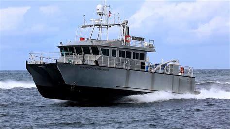 hydrofoil boat builders usace foil assisted catamaran florida ii youtube