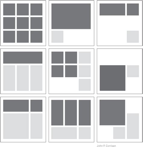 indesign grid template organizing form and content central air nomadic space