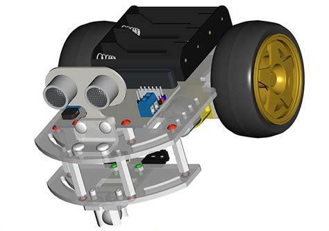 motorbit acrylic smart car kit  microbit robot