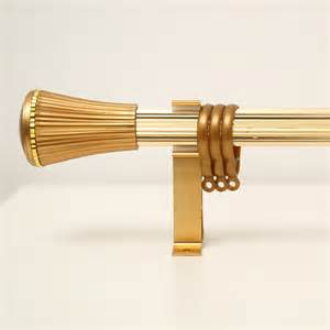 gold aluminum alloy single curtain rods 19 inch