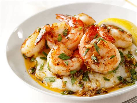 dinner dishes lemon garlic shrimp and grits recipe food network