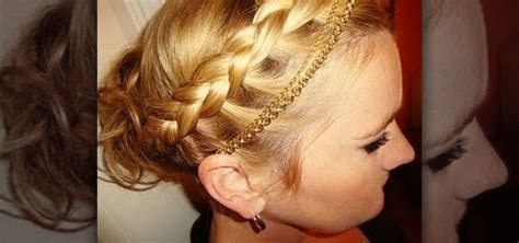 how to create a beautiful braided greek goddess updo for