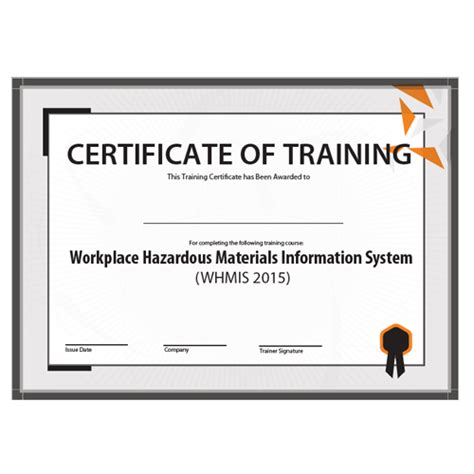 Whmis Certificate Template whmis kit everything your need to your workers in whmis