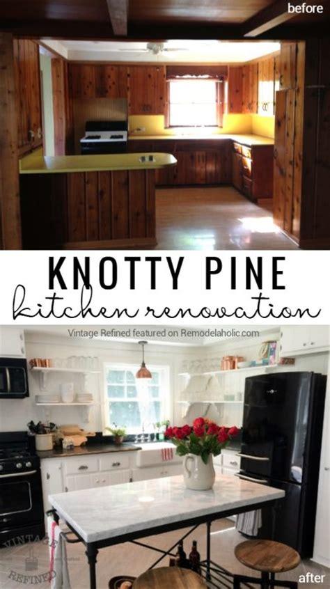 painting pine kitchen cabinets remodelaholic kitchen renovation updating knotty pine
