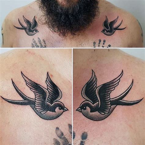mens swallow tattoo designs 70 traditional designs for school
