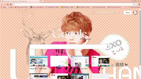 Theme Google Chrome Luhan Exo | exo luhan google theme by megumikeigo on deviantart