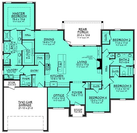 french dream 8149 4 bedrooms and 3 baths the house 264 best rambler floor plans images on pinterest house