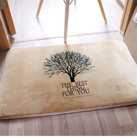 Front Door Carpet Mat Original Design Big Tree Printed Carpet Entrance Door Mats