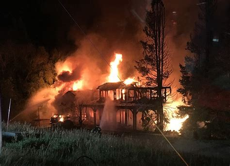 steamboat fire sunday morning fire destroys fish creek falls road home