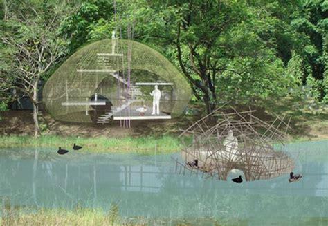 bird island nest house a beautiful dome of sustainability