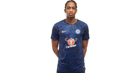 Chelsea Prematch Black lyst nike chelsea fc squad pre match shirt in blue for