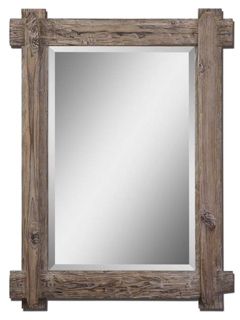 rustic mirrors bathroom reclaimed wood mirror frame rustic bathroom