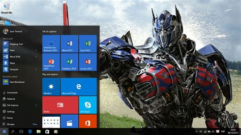 theme windows 8 1 transformer optimus prime transformers 4 theme for windows 7 8 and 10