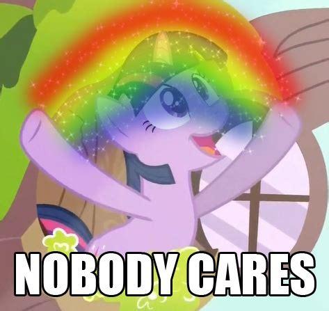 No One Cares Meme Spongebob - twilight sparkle nobody cares and i know where the shot