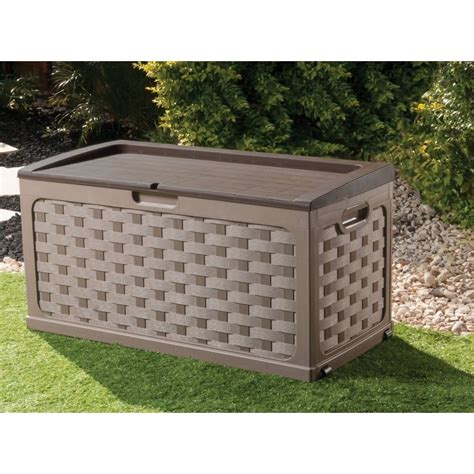 Rattanstühle Garten by Starplast Rattan Style Garden Storage Box With Sit On Lid Starplast From Garden Store Direct Uk