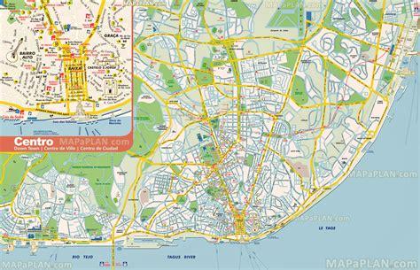 printable map lisbon image gallery lisbon portugal landmarks map