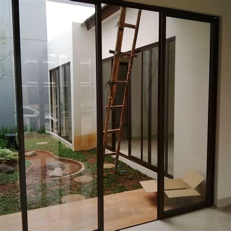 Pintu Sliding Kaca Di Tangerang pintu sliding informasi harga jual kusen aluminium di