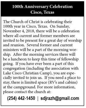 100th Anniversary Celebration - Cisco, Texas | The