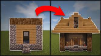How To Remodel A House Minecraft How To Remodel A Village Small House Youtube