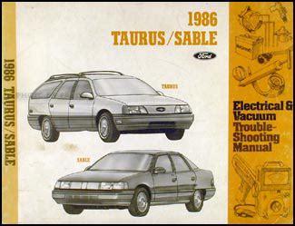 1986 ford taurus mercury sable vacuum diagram brakes cruise control ac 3 0l
