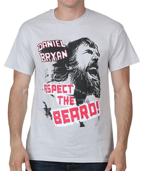 T Shirt Kaos Daniel Bryan Respect The Beard 02 Grey daniel bryan respect the beard t shirt