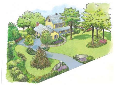 builderhouseplans com hwbdo10990 landscape plan from builderhouseplans com