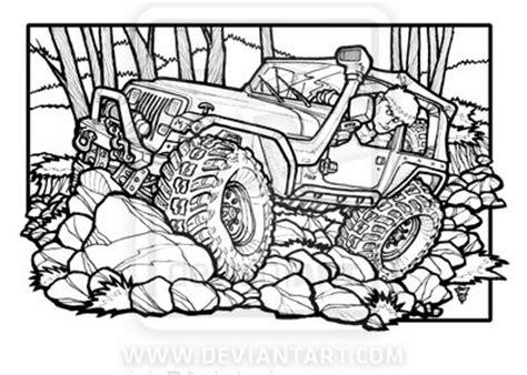 cartoon jeep drawings jeep yj on the rocks by r0tti on deviantart