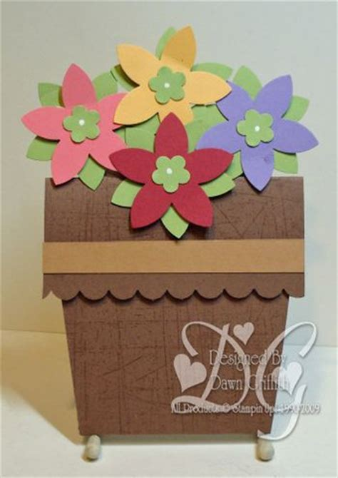 Paper Craft Flower Pot - flower pot card dawns sting thoughts stin