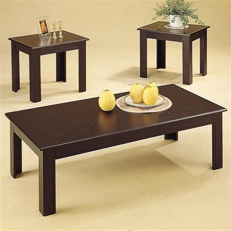 cafe 3 piece occasional set coaster occasional sets 3 piece parquet occasional