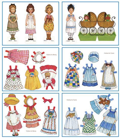 printable paper figures free gingham printable paper dolls holly hobbie gingham