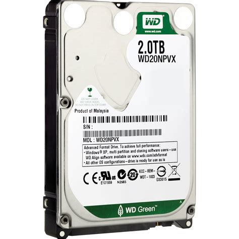 Hardisk Wd 2 5 wd 2tb green 2 5 quot sata 6gbps oem wd20npvx b h