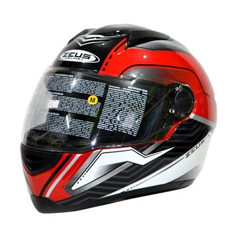 Helm Zeus Zs 811 Pearl White jual zeus zs 811 motif helm black white