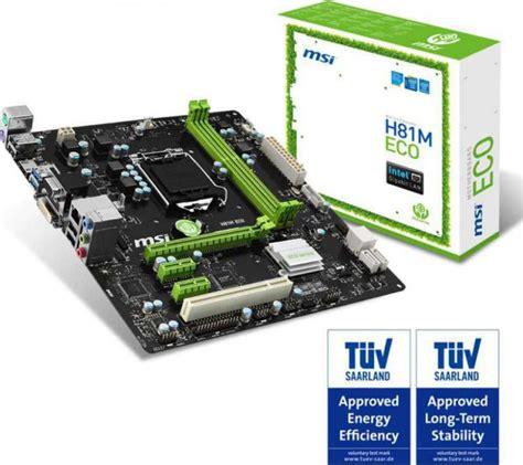 Motherboard Intel Msi H81m Eco msi h81m eco lga 1150 intel h81 hdmi sata 6gb s usb 3 0 micro atx intel motherboard buy best