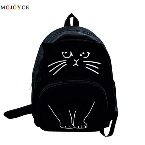 Lovely Cat Backpack By Anfashion lovely cat printing backpack canvas backpack school