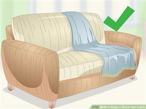 throwovers for sofas 3 ways to drape a throw over a sofa wikihow