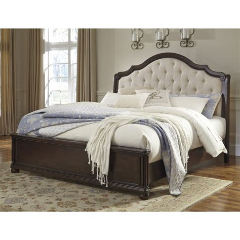 tufted headboard bedroom set ashley furniture tufted bed dark gray upholstered king