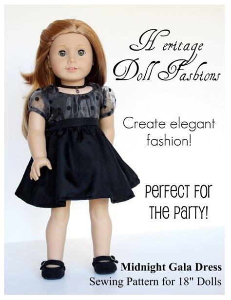 doll clothes pattern pdf midnight gala dress 18 inch doll clothes pattern pdf