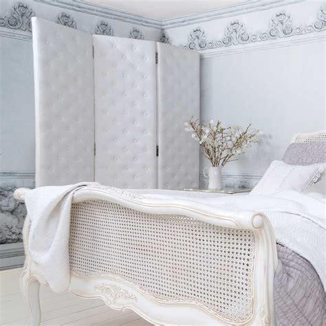 Bedroom Screen Dividers Uk Peek A Boo Studded White Upholstered Dressing Screen