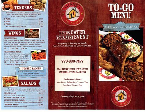 Rib Crib To Go Menu by Rib Crib City Menu Baby Crib Design Inspiration