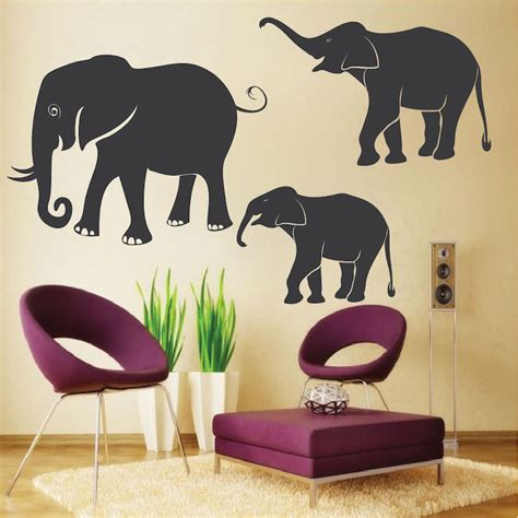 elephant wall stickers elephant wall decals wall murals from trendy wall designs