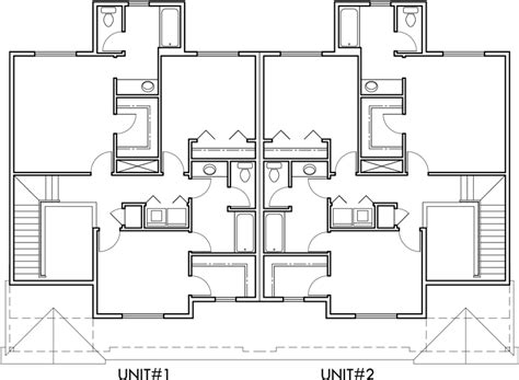 fourplex house plans numberedtype 2 story duplex house plans numberedtype