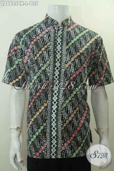 desain baju batik santai busana batik lengan pendek modis baju batik parang desain