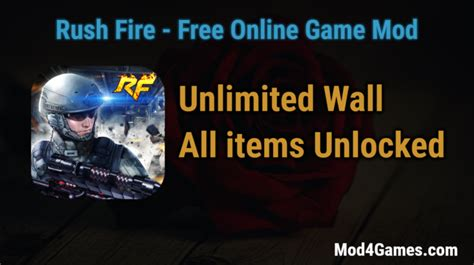 game offline mod apk unlimited rush fire hacked game mod apk free with offline obb data