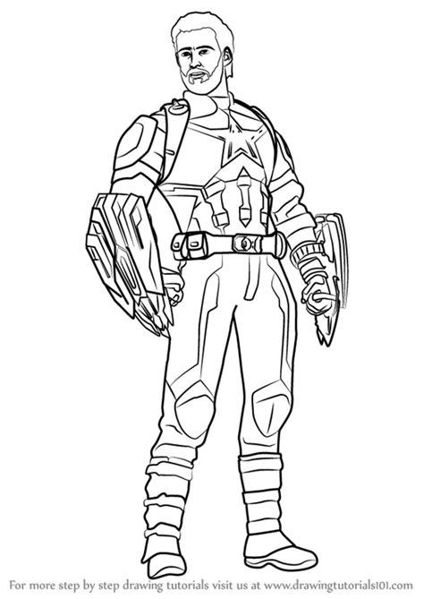 learn   draw captain america  avengers infinity