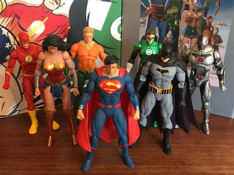 Dc Justice League 2017 advance review dc collectibles rebirth justice league 7 pack 13th dimension comics