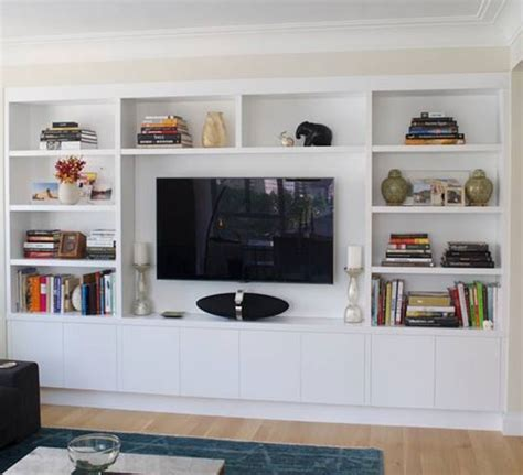 hand crafted built in wall unit for widescreen tv in custom built in wall units modern storage solutions